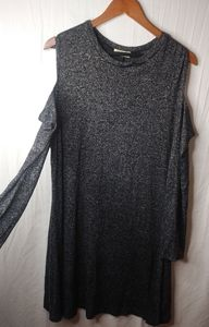 PINC Charcoal Gray Slinky Mini Dress 3X Plus